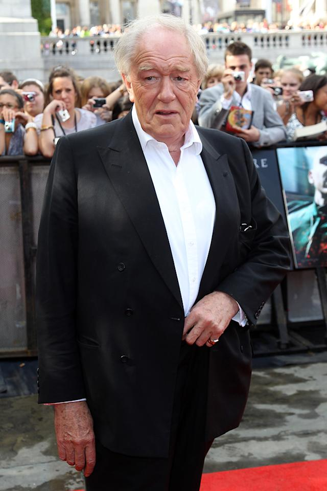 "<a href=""http://movies.yahoo.com/movie/contributor/1800018836"">Michael Gambon</a> at the London world premiere of <a href=""http://movies.yahoo.com/movie/1810004624/info"">Harry Potter and the Deathly Hallows - Part 2</a> on July 7, 2011."
