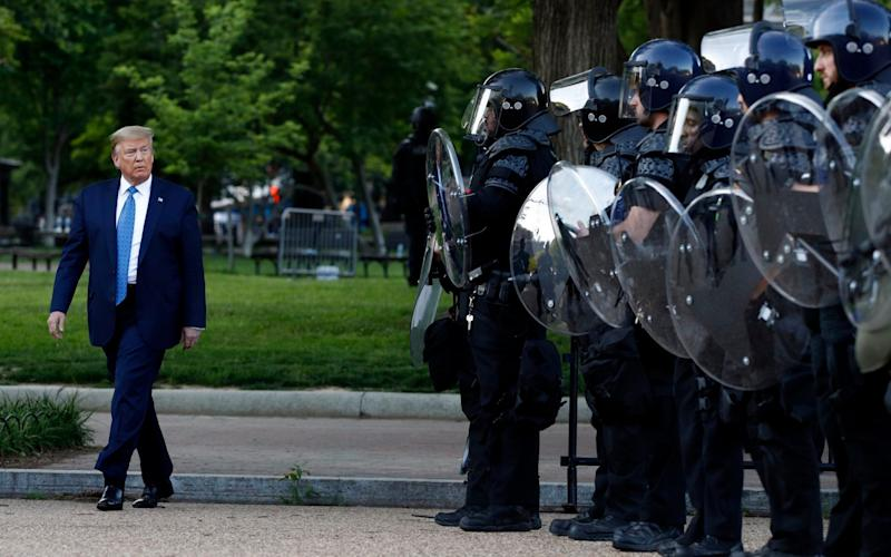 President Trump demanded protesters in Lafayette Square be cleared, prompting local law enforcement officials to seek out available tools - Patrick Semansky/AP