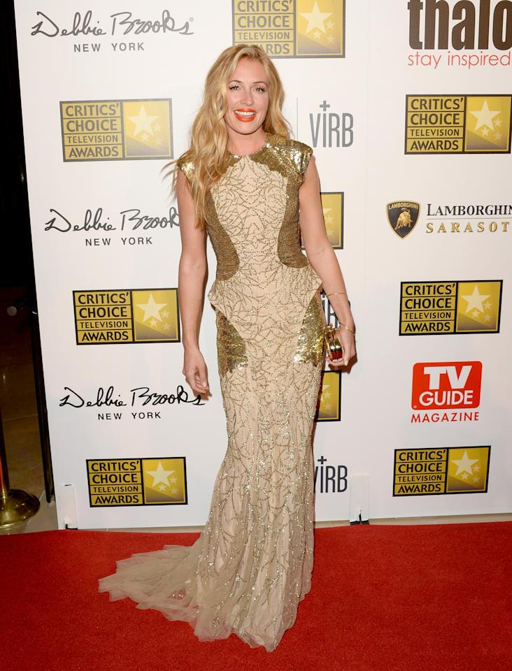 LOS ANGELES, CA - JUNE 10: Cat Deeley arrives at Broadcast Television Journalists Association's third annual Critics' Choice Television Awards at The Beverly Hilton Hotel on June 10, 2013 in Los Angeles, California. (Photo by Jason Merritt/Getty Images)