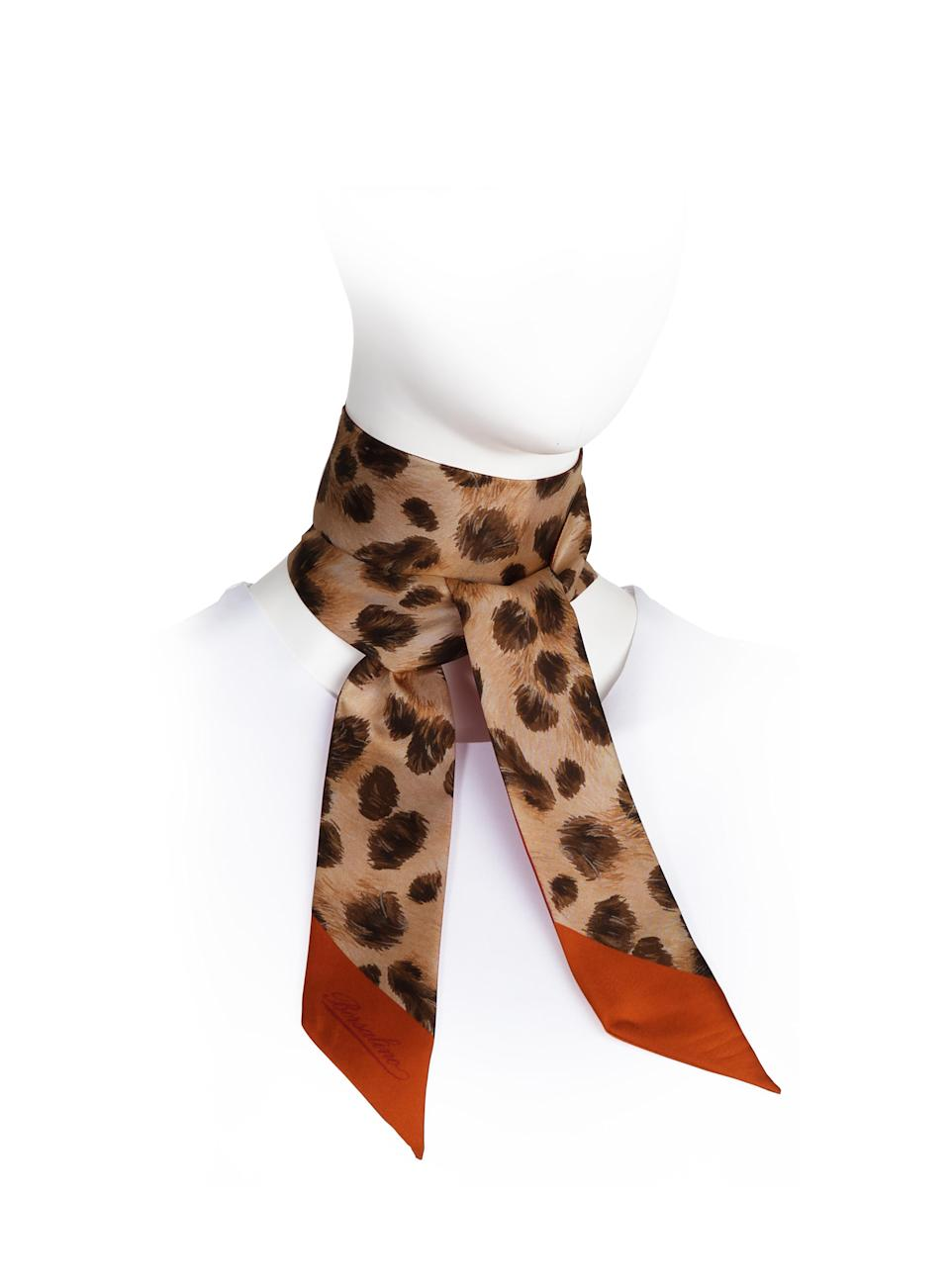 A Borsalino scarf manufactured under license by Isa SpA. - Credit: Courtesy of Borsalino