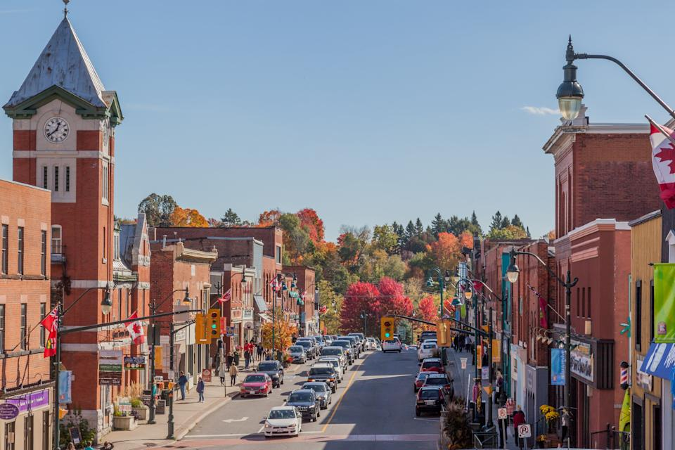 """Bracebridge, Ont., a town in the """"cottage country"""" north of Toronto, is seen in this stock photo taken Oct. 15, 2016. (Photo: JHVEPhoto via Getty Images)"""