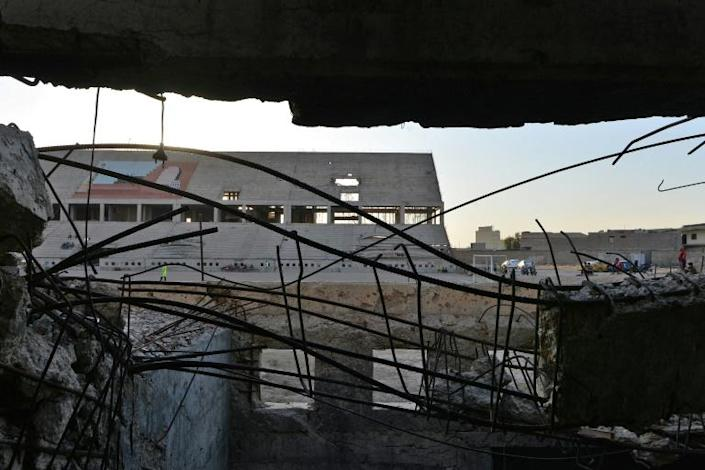 The bullet-riddled 20,000-seater stadium is home to Mosul Sports Club which once produced some of Iraq's best football players