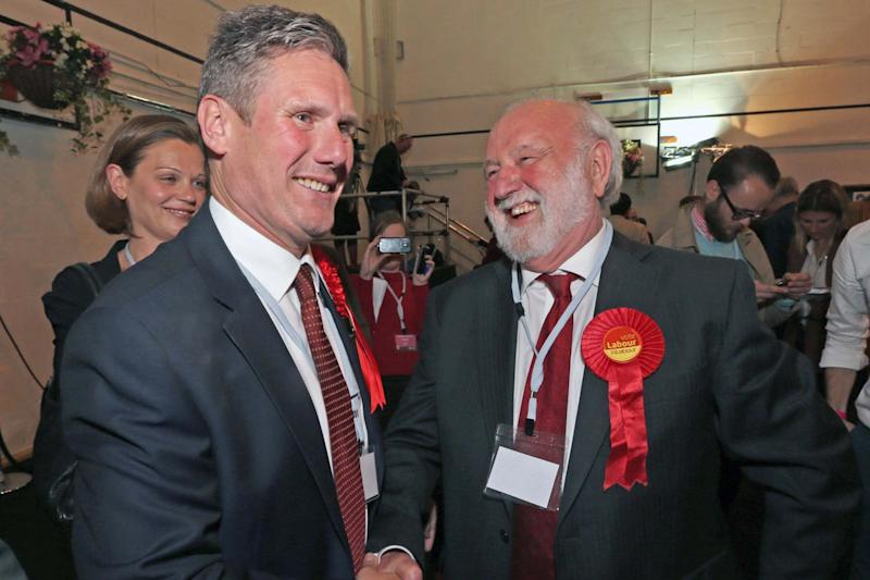 Mr Dobson and Kier Starmer in the 2015 General Election (NIGEL HOWARD ©)