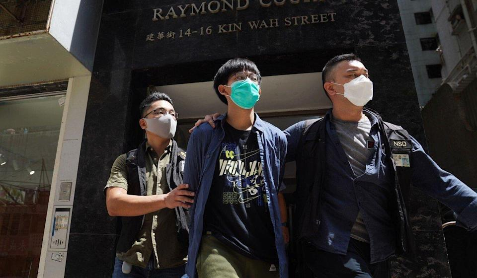 HKU student Chris Todorovski was one of four arrested by police last week and charged with 'advocating terrorism' via the motion. Photo: Sam Tsang
