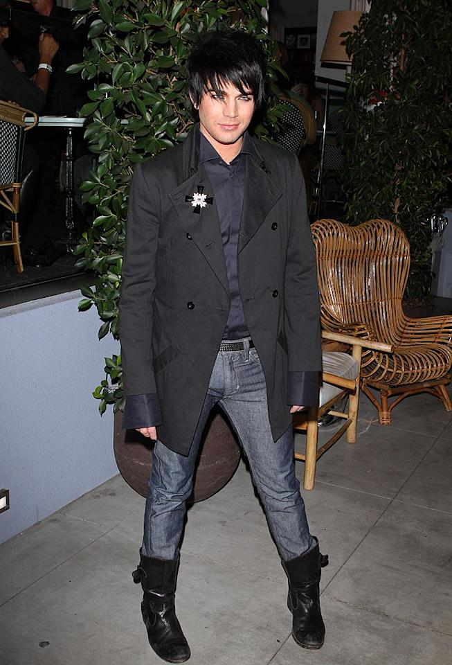 """Almost-""""Idol"""" Adam Lambert arrives at <i>TV Guide</i>'s Hot List Party at the SLS Hotel in Beverly Hills. Jean Baptiste Lacroix/<a href=""""http://www.wireimage.com"""" target=""""new"""">WireImage.com</a> - November 10, 2009"""