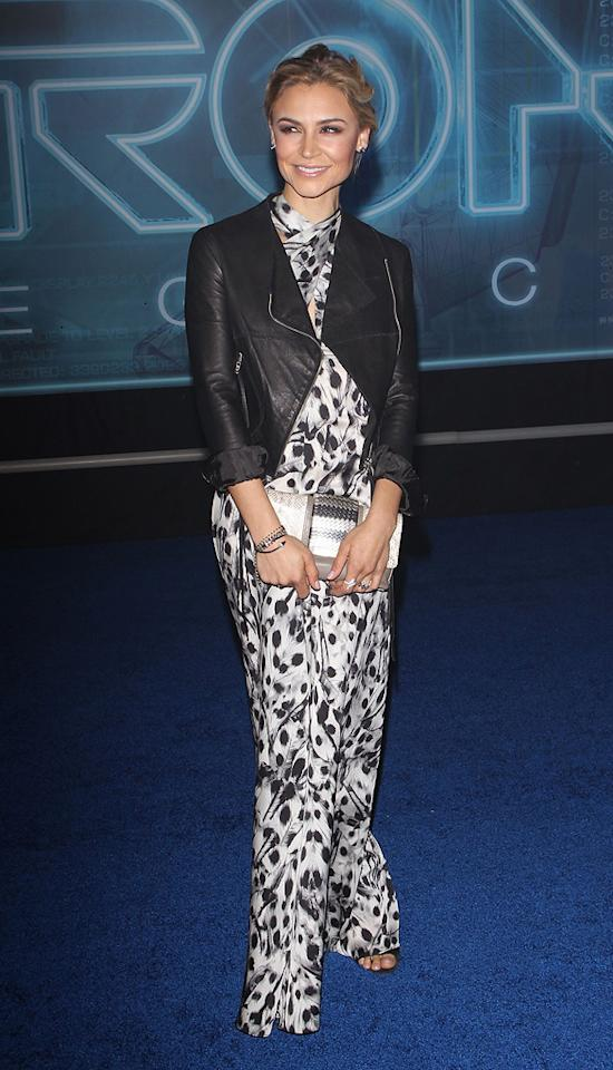 """<a href=""""http://movies.yahoo.com/movie/contributor/1804504004"""">Samaire Armstrong</a> attends the Los Angeles premiere of <a href=""""http://movies.yahoo.com/movie/1810096458/info"""">TRON: Legacy</a> on December 11, 2010."""