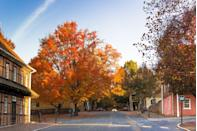 <p>A mere mile away from downtown Winston-Salem, Main Street in Old Salem, North Carolina is a preserved historic district that has remained largely unchanged since the eighteenth century. </p>