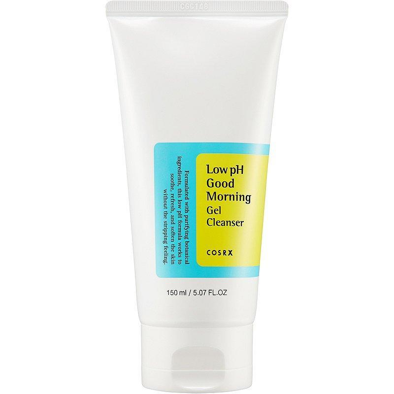 """<p>Despite its name Cosrx Low pH Good Morning Gel Cleanser can and should be used not only in the morning, but at night, too. The foaming face wash combines clarifying tea tree oil with a slew of hydrating botanicals, making it an ideal way to sweep away the day's makeup, sweat, and general grime.</p> <p><strong>$14</strong> (<a href=""""https://shop-links.co/1708644570829241920"""" rel=""""nofollow noopener"""" target=""""_blank"""" data-ylk=""""slk:Shop Now"""" class=""""link rapid-noclick-resp"""">Shop Now</a>)</p>"""