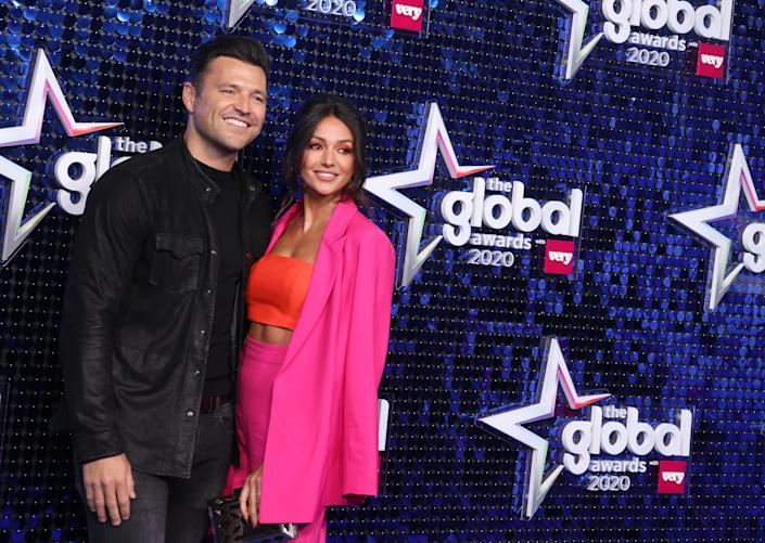 LONDON, ENGLAND - MARCH 05: Mark Wright and Michelle Keegan attend The Global Awards 2020 at Eventim Apollo, Hammersmith on March 05, 2020 in London, England. (Photo by Mike Marsland/WireImage)
