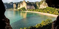 """<p>Thailand's Krabi province has long been on <a href=""""https://www.bestproducts.com/fun-things-to-do/g22521963/beautiful-beaches-in-thailand/"""" rel=""""nofollow noopener"""" target=""""_blank"""" data-ylk=""""slk:beach lovers' radars"""" class=""""link rapid-noclick-resp"""">beach lovers' radars</a>, especially <a href=""""https://www.tripadvisor.com/Attraction_Review-g1597036-d627649-Reviews-Railay_Beach-Railay_Beach_Krabi_Town_Krabi_Province.html"""" rel=""""nofollow noopener"""" target=""""_blank"""" data-ylk=""""slk:Railay Beach"""" class=""""link rapid-noclick-resp"""">Railay Beach</a>. This photo-worthy strand, reached via long-tail boat from Ao Nang, is framed by stunning limestone cliffs, and it has many secret coves that you can explore by kayak. </p><p><a class=""""link rapid-noclick-resp"""" href=""""https://go.redirectingat.com?id=74968X1596630&url=https%3A%2F%2Fwww.tripadvisor.com%2FHotel_Review-g1597036-d479240-Reviews-Sand_Sea_Resort-Railay_Beach_Krabi_Town_Krabi_Province.html&sref=https%3A%2F%2Fwww.redbookmag.com%2Flife%2Fg34756735%2Fbest-beaches-for-vacations%2F"""" rel=""""nofollow noopener"""" target=""""_blank"""" data-ylk=""""slk:BOOK NOW"""">BOOK NOW</a> Sand Sea Resort</p><p><a class=""""link rapid-noclick-resp"""" href=""""https://go.redirectingat.com?id=74968X1596630&url=https%3A%2F%2Fwww.tripadvisor.com%2FHotel_Review-g1597036-d557101-Reviews-Railay_Bay_Resort_Spa-Railay_Beach_Krabi_Town_Krabi_Province.html&sref=https%3A%2F%2Fwww.redbookmag.com%2Flife%2Fg34756735%2Fbest-beaches-for-vacations%2F"""" rel=""""nofollow noopener"""" target=""""_blank"""" data-ylk=""""slk:BOOK NOW"""">BOOK NOW</a> Railay Bay Resort & Spa</p>"""