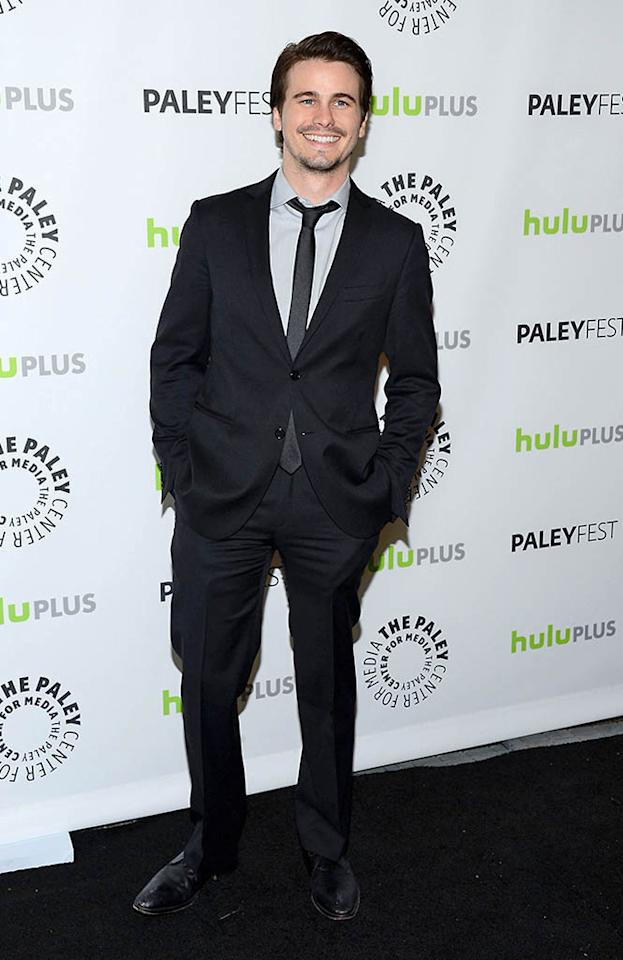 "Jason Ritter attends the 30th annual PaleyFest featuring the cast of ""Parenthood"" at the Saban Theatre on March 7, 2013 in Beverly Hills, California."