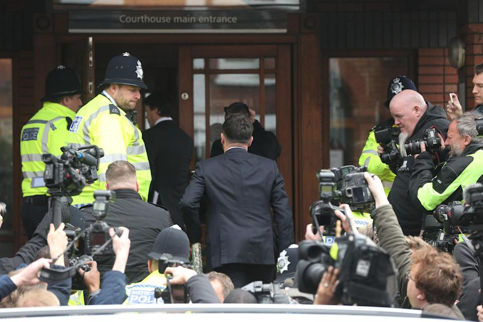 TV presenter Anthony McPartlin entered the court to plead guilty to the drink driving charge. (PA)