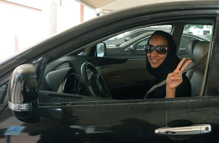 Manal al-Sharif spent nine days in jail for driving (AFP Photo/MARWAN NAAMANI)