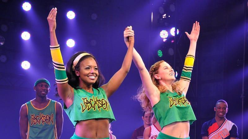 Bring It On: The Musical cast members Adrienne Warren and Taylor Louderman, neither of whom, presumably, will get within 100 miles of Bring It On: Halloween.