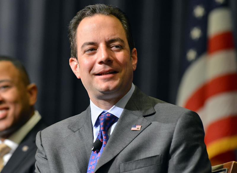 FILE - In this Aug. 15, 2013 file photo, Republican National Committee Chairman Reince Priebus speaks in Boston. The Republican National Committee began running ads in 40 media markets Tuesday, mostly targeting incumbent senators who supported President Barack Obama's health care program. Billionaire former New York Mayor Michael Bloomberg, meanwhile, gave $2.5 million to help Democrats defend their majority in the Senate. (AP Photo/Josh Reynolds, File)