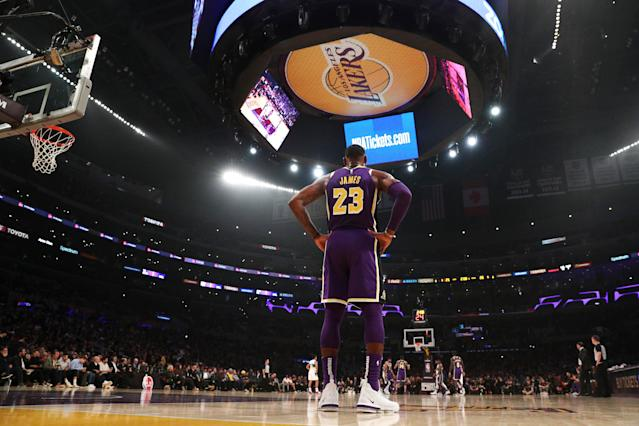 In his 16th season, LeBron James is finally slowing down. (Getty)