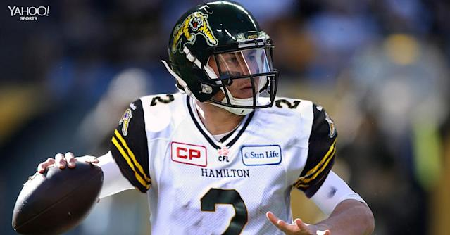 This is Johnny Manziel's future as a quarterback for the Hamilton Tiger-Cats. (Yahoo Sports)