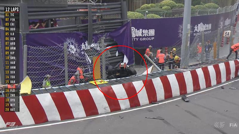 Macau F3 World cup Crash involving Sophia Floersch stuns Motorsport world