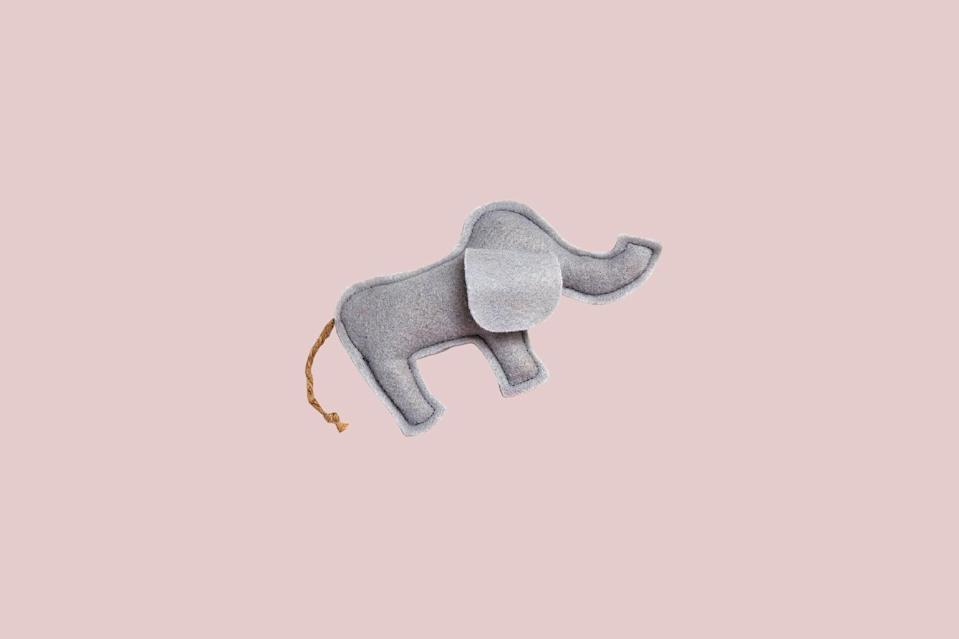 "<p>What could possibly be cuter than a handmade catnip toy? How about one designed to look like an elephant. This charming organic catnip-filled toy is constructed of 100-percent cotton and backed with a soft minkee fabric that your cats will love.</p> <p><strong><em>Shop Now</em></strong><em>: Cat Connection Vermont Homegrown Organic Catnip Felt Elephant, $6, </em><a href=""https://www.thecatconnection.com/cat/catnip-chocolate-strawberry.html"" rel=""nofollow noopener"" target=""_blank"" data-ylk=""slk:thecatconnection.com"" class=""link rapid-noclick-resp""><em>thecatconnection.com</em></a><em>.</em></p>"