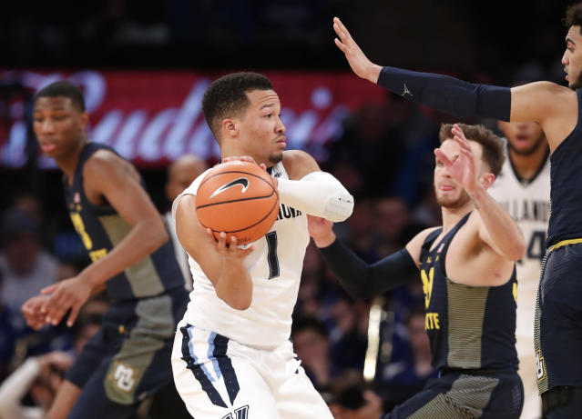 Villanova guard Jalen Brunson. (AP Photo/Kathy Willens)