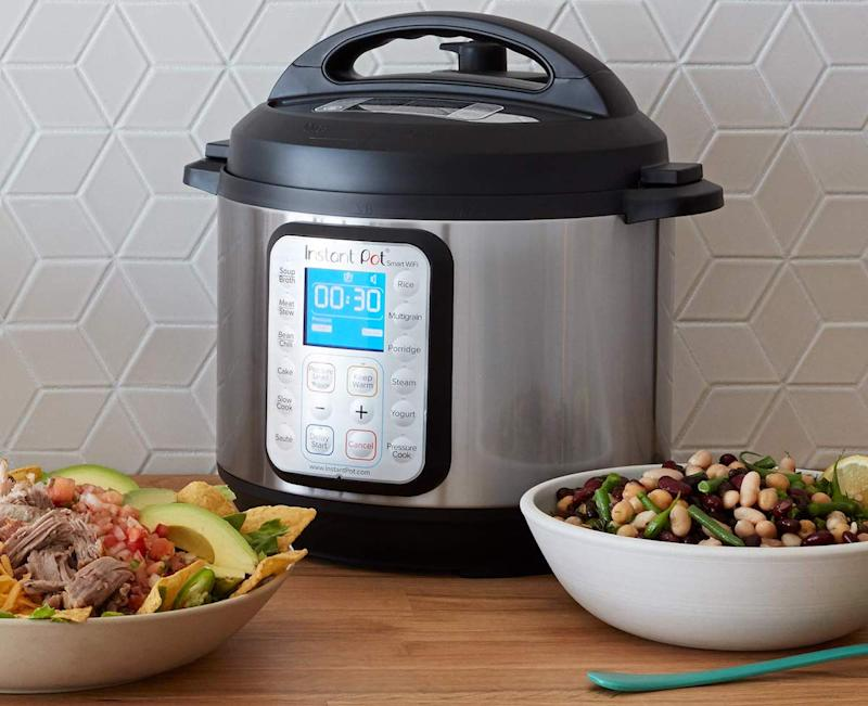 The Instant Pot 8-in-1 multi-cooker with Smart Wifi and 13 one-touch programs lets you control the unit via any of your Alexa-enabled devices or through the Instant Pot app. (Photo: Amazon)