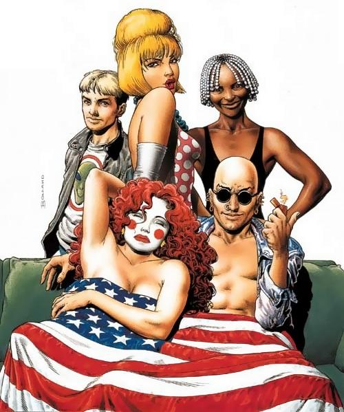 The Invisibles (2000) This series of six graphic novels showed off the confrontational side of comics - pitting a time-travelling group of magicians against a conspiracy of the English upper classes and trans-dimensional aliens who want to enslave the human race. Its Scottish author, Grant Morrison, claims that the script was 'dictated' to him during an alien abduction in Kathmandu.
