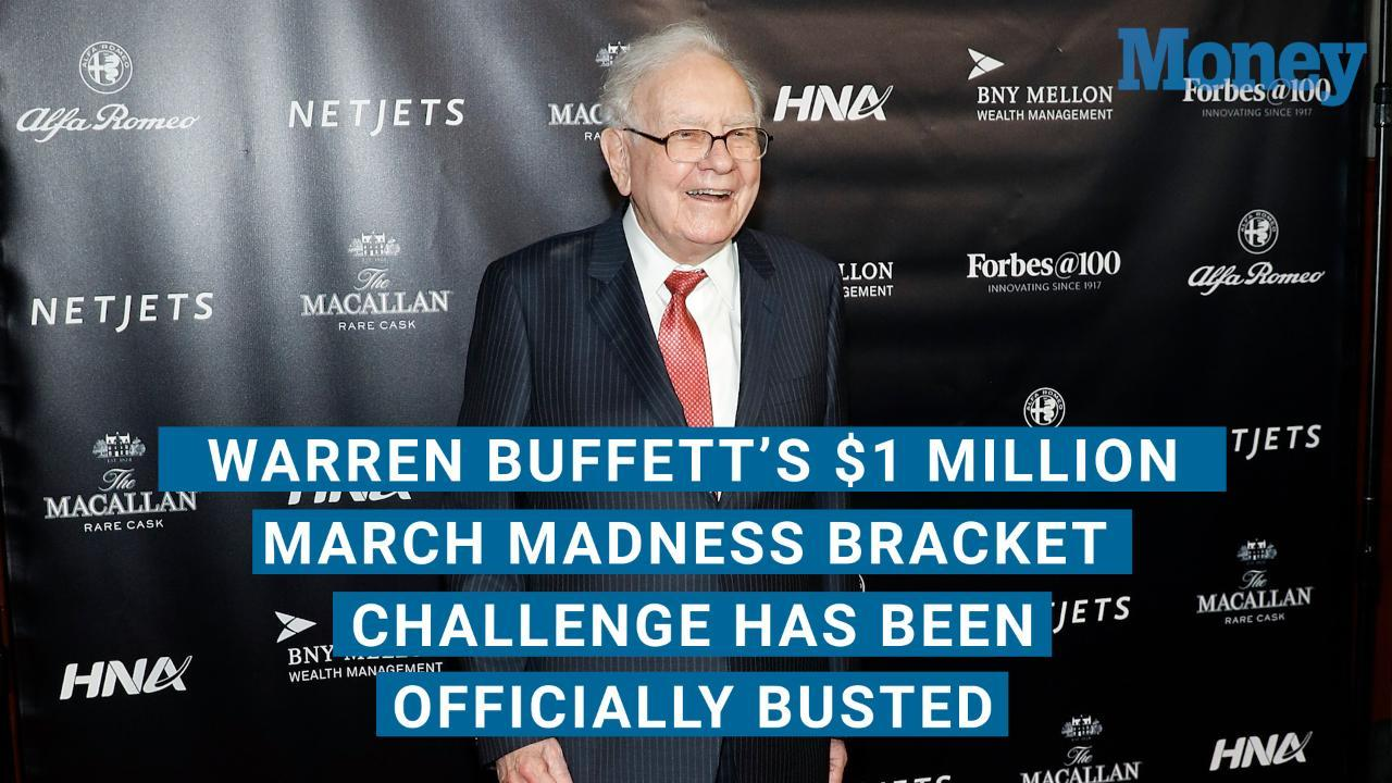 Warren Buffett's $1 Million March Madness Bracket Challenge Has Been Officially Busted