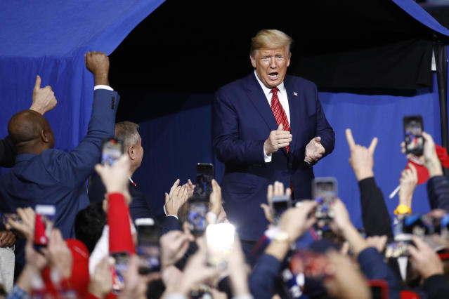 Image result for Go ahead campaign rallies even as coronavirus spreads:Trump