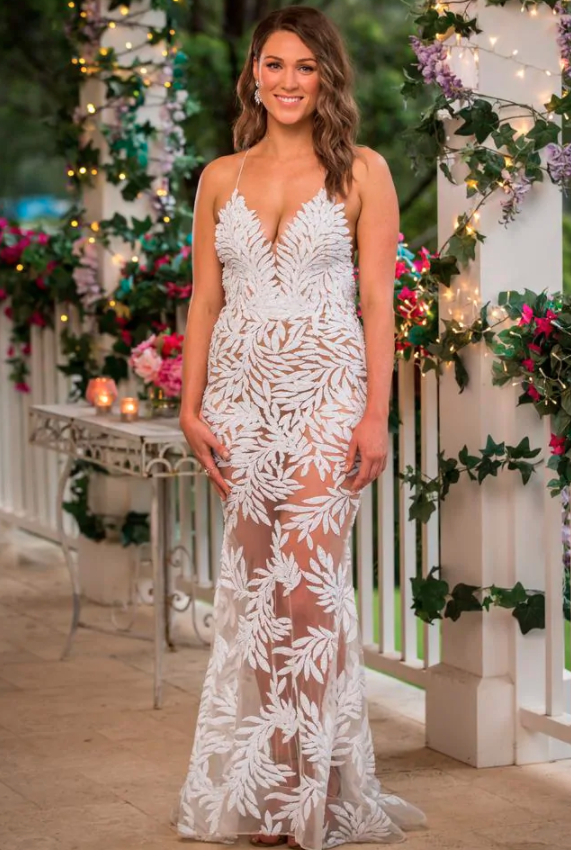 Bachelor Marlaina naked wedding gown first impression