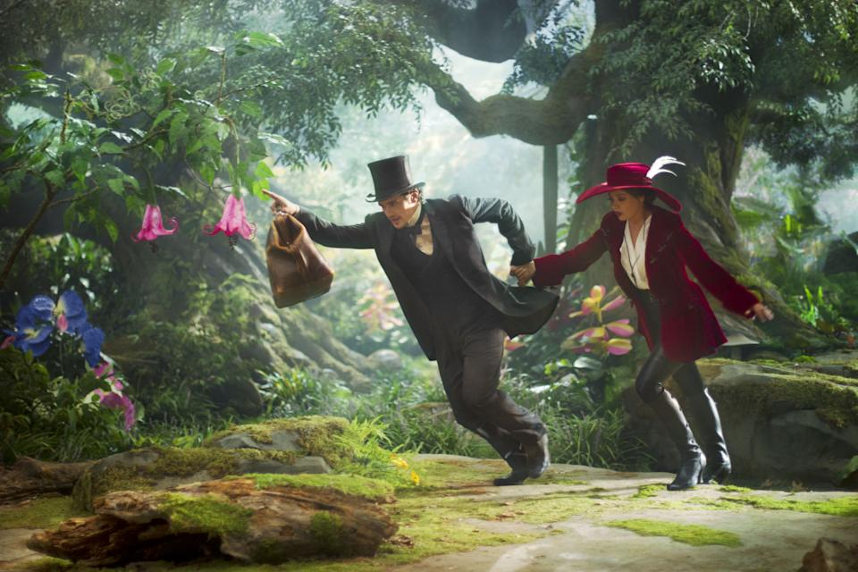James Franco and Mila Kunis in 2013's Oz The Great And Powerful (Disney)