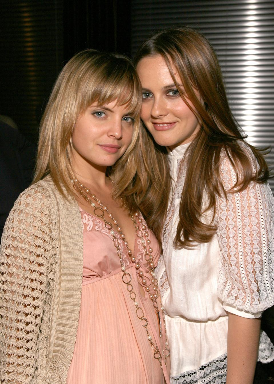 Mena Suvari and Alicia Silverstone during Kevin Spacey Announces the Launch of the New Triggerstreet.com and Their Latest Venture with Budweiser Select - Inside at Social Hollywood in Los Angeles, California, United States. (Photo by Jesse Grant/WireImage)