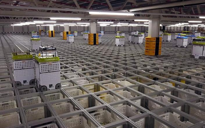 One of Ocado's robot-run warehouses - Ocado
