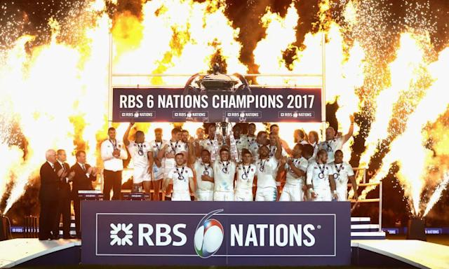 """<span class=""""element-image__caption"""">Can anybody stop England from collecting their third consecutive Six Nations title in 2018?</span> <span class=""""element-image__credit"""">Photograph: David Rogers - RFU/The RFU Collection via Getty Ima</span>"""