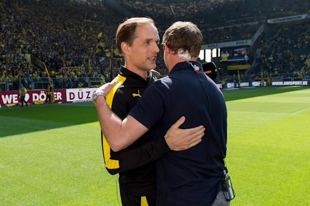 Thomas Tuchel (left) and Julian Nagelsmann (right) are seen as two potential candidates for the Bayern Munich job. (Getty)