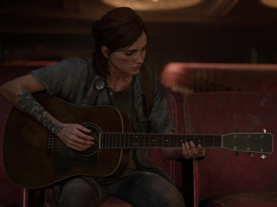 Ellie strums her guitar in a quiet scene from the masterful follow-up to 2013's 'The Last of Us' (Naughty Dog)