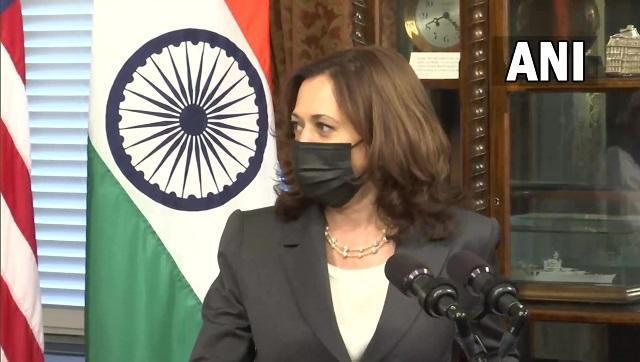 """Kamala Harris noted that the United States was proud to support India during the second wave of coronavirus. """"We had Covid-19, the kind of crisis and importance of our shared belief in a free and open Indo-Pacific region. On Covid-19, our nations have worked together,"""" she said. ANI"""