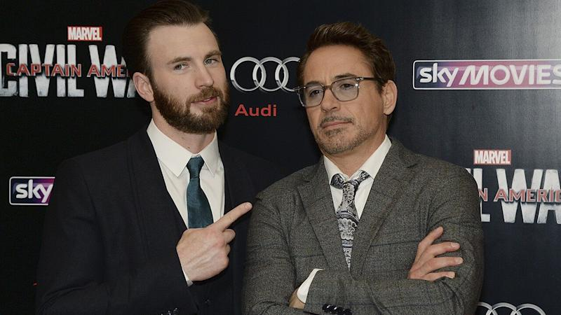 See Robert Downey Jr.'s Cheeky Birthday Message to Chris Evans