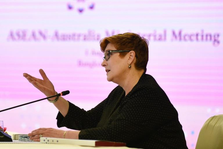 Australia's Foreign Minister Marise Payne pledged $80 million to combat human trafficking in Southeast Asia (AFP Photo/Romeo GACAD)