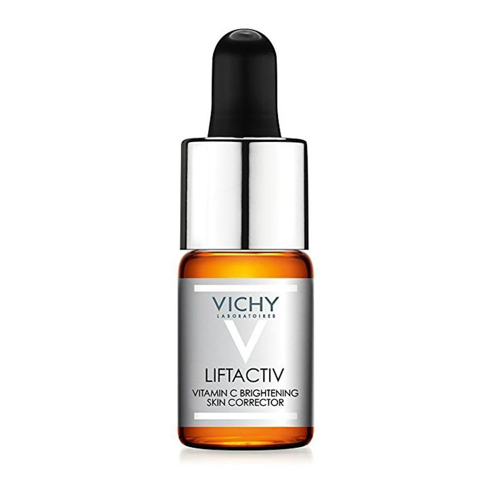 """<p><strong>Vichy</strong></p><p>amazon.com</p><p><strong>$28.50</strong></p><p><a href=""""https://www.amazon.com/dp/B073ZJLF1H?tag=syn-yahoo-20&ascsubtag=%5Bartid%7C2089.g.20966726%5Bsrc%7Cyahoo-us"""" rel=""""nofollow noopener"""" target=""""_blank"""" data-ylk=""""slk:Shop Now"""" class=""""link rapid-noclick-resp"""">Shop Now</a></p><p>Vichy's answer to vitamin C serum combines 15% vitamin C and hyaluronic acid for skin that looks brighter and feels firmer in less than 2 weeks. This formula features fewer than 11 ingredients that'll seriously improve the texture and tone of your skin.</p>"""
