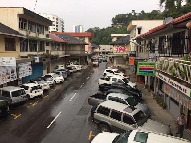 Jalan Dewan looks relatively quiet during the day.