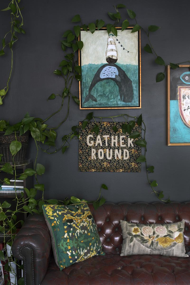 """Friends have often tried to lure artist Rebecca Rebouché to live in NYC or L..A. But she has always known that big-city life would not work for her. And it seems that she wants for nothing, having built a global network of fans and collectors from New Orleans, without ever compromising her lifestyle. Every corner of her home and studio is alive with her handmade creations and artwork, much of which was inspired by the natural environment on her doorstep. From the Mississippi River to the woodlands of north Covington, Rebecca makes regular forays into nature to work, expeditions which sometimes culminate in bluegrass """"pickin' parties"""" in the forest with her extended group of creative and musical friends."""