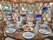 "<p>Earlier this winter, <a href=""https://www.marriott.com/hotels/travel/slcxr-the-st-regis-deer-valley/"" rel=""nofollow noopener"" target=""_blank"" data-ylk=""slk:St. Regis Deer Valley"" class=""link rapid-noclick-resp"">St. Regis Deer Valley</a> created a one-of-a-kind dining and après-ski experience: Yurt Village. Set on ski beach, a collection of three yurts that accommodate up to eight guests offers a fun way to get a break from the slopes with a pre-fixe menu, an outdoor patio, and a meal to remember.</p>"