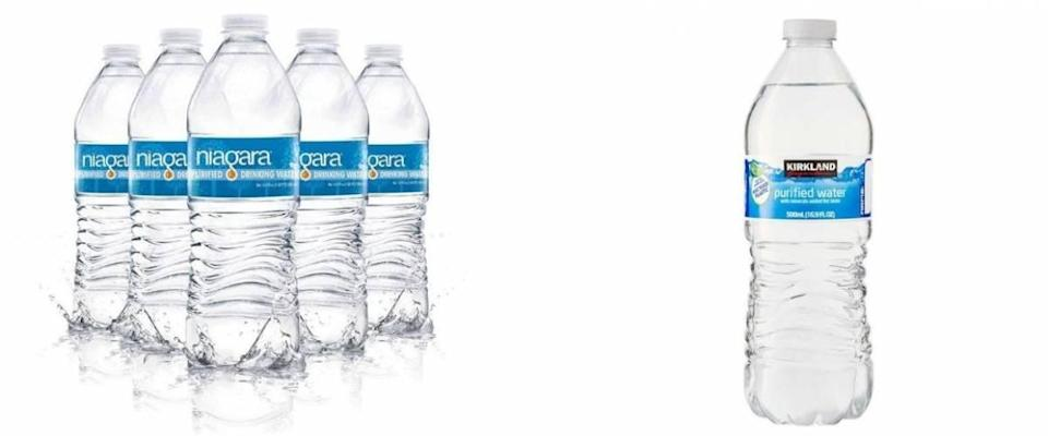 Niagara bottled water and Costco bottled water