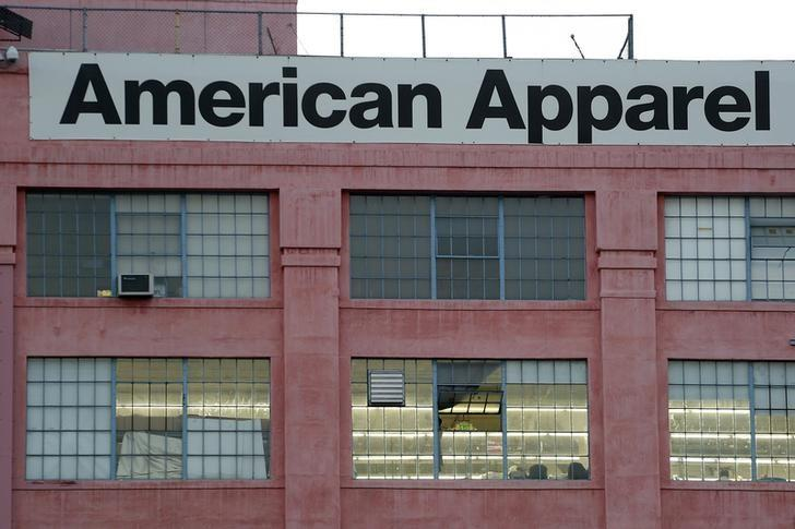 The American Apparel factory headquarters is pictured in Los Angeles, California