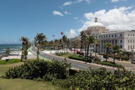 FILE PHOTO: The Capitol building is seen in San Juan, Puerto Rico May 4, 2017. REUTERS/ Alvin Baez/File Photo