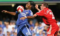 Manchester United were back at the top with the launch of the Aerow II, but it was Chelsea's Didier Drogba who top scored with 20. (Photo credit should read JOHN D MCHUGH/AFP/Getty Images)