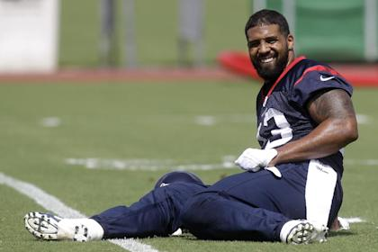 Arian Foster, back in the game (AP Photo/Patric Schneider)