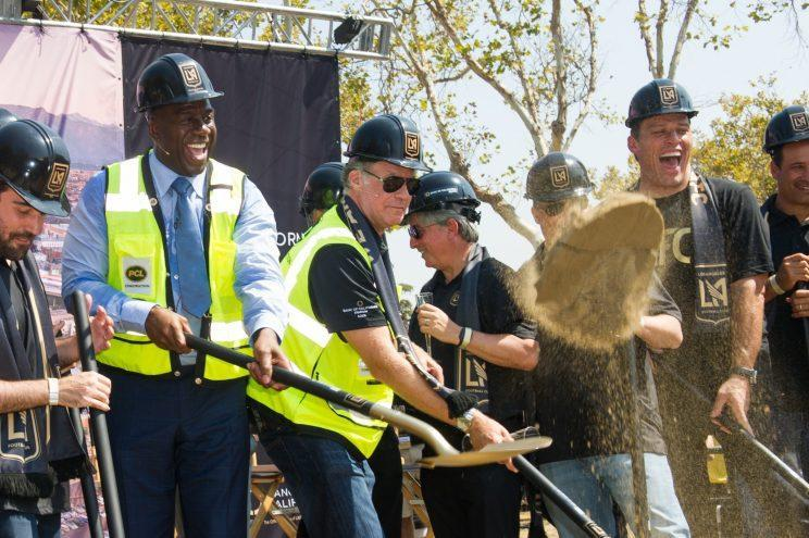 Magic Johnson and Will Ferrell have bought into MLS's 23rd team, and second in Los Angeles, LAFC. (Getty)