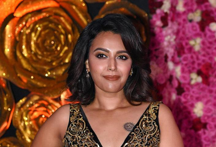 Indian Bollywood actress Swara Bhaskar attends the Lux Golden Rose Awards ceremony in Mumbai on November 18, 2018. (Photo by - / AFP) (Photo credit should read -/AFP via Getty Images)