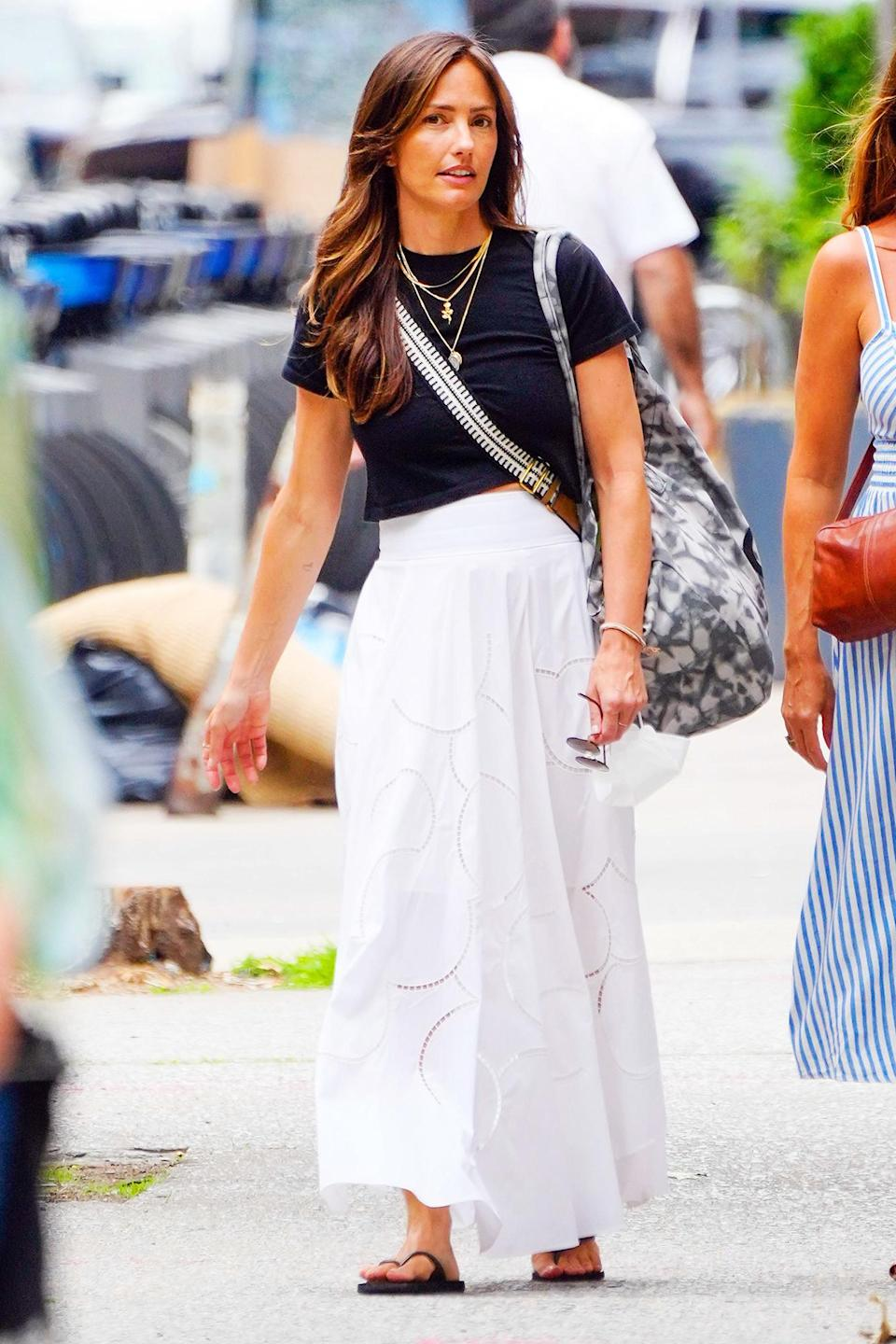 <p>Minka Kelly heads out to eat and shop with a girlfriend in N.Y.C. on June 8.</p>